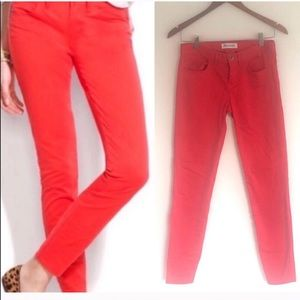 Madewell Skinny Ankle Colorpop Paprika Jeans